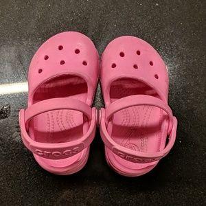 Pink baby Crocs
